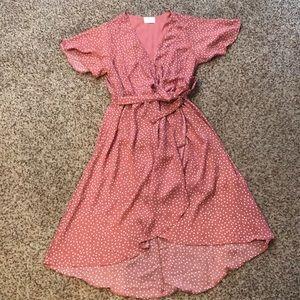 Sienna Sky Mock Wrap Dress